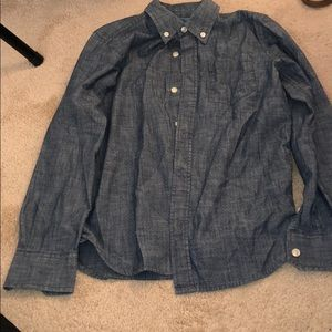 Boys denim button down